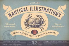 100 Vintage Nautical Illustrations by The Beacon Collection on @creativemarket