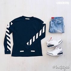 Love the shirt with those shoes, denim makes a nice, casual touch Swag Outfits, Dope Outfits, Urban Outfits, Casual Outfits, Fashion Outfits, Teen Boy Fashion, Dope Fashion, Mens Fashion, Hype Clothing