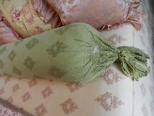 Bella Notte Linens Olivia Lace Bolster & Linen Liner Bottle Green NWT no insert
