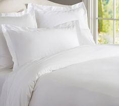 Essential Bedding Set, Twin XL, White at Pottery Barn Cheap Bedding Sets, Cotton Bedding Sets, Luxury Bedding Sets, Cotton Duvet, Affordable Bedding, Comforter Sets, King Comforter, Ruffle Duvet, Linen Duvet