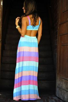 Awesome Rainbow Dreams Maxi Dress: Multi... Styles Check more at http://fashionie.top/pin/37111/