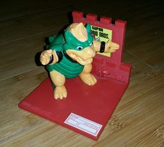 Super Mario Trophy Figure 1988 Bowser Vintage Rare!! FREE SHIPPING