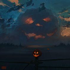 Halloween Art: Jack O' Lantern