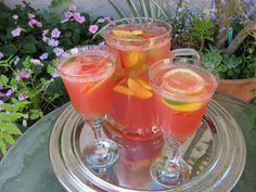 Summer Sangria with Watermelon Juice and Lemon Verbena ... enjoy a glass of this refreshing drink at the end of a hot summer day.