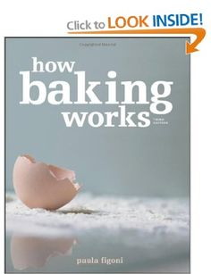 {How Baking Works, Paula I. Figoni.} Though I think McGee is generally better for science, it's nice to have a book that focuses on baking. Good for information on ingredients and what they do i.e. fats, sweeteners etc. Has exercises and experiments but I haven't tried them.