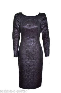 ALEXANDER-McQUEEN-2009-BLACK-ORIENTAL-EMBOSSED-DRESS-IT-42-UK-10-US-6-BN Alexander Mcqueen Dresses, Black Tuxedo, Emboss, Vintage Black, Oriental, Gowns, Clothes For Women, Formal Dresses, Darkness