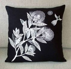Miranda Brown : Tattoo Leaves Cushion