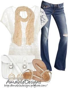 """""""Day Date"""" by amabiledesigns on Polyvore...with a cute tank under"""