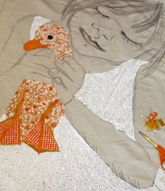 The combination of quilting with the thread sketching is so, so beautiful.