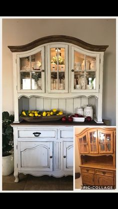 kitchen hutch furniture cabinets makeover roadkill redo garden wish list painted decor the main table top is left in original wood adds interest refurbished