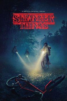 Póster Stranger Things, bicicleta  Estupendo póster basado en la serie Stranger Things.