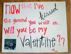 Now That I've Kissed The Ground You Walk On... Poster   Trail of Hershey's Kisses Valentine's Day Idea
