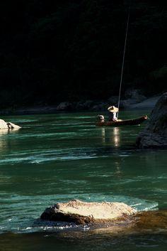 Fishing on Niyodogawa River, Kochi, Japan 高知 仁淀川