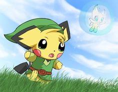 Linkchu!, link, pichu, pikachu, mix