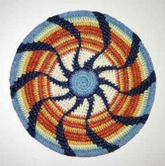 Tapestry crochet mandala by Stacey Glasgow