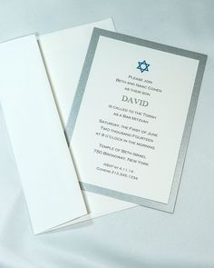 Bar Mitzvah Bordered Invitation kits