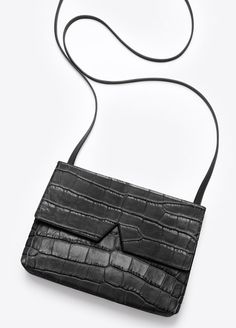 Vince Signature Collection Stamped Croc Baby Crossbody   Vince