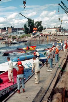 Aug 2, 1964  Pits at Coeur d' Alene, Idaho - Copyright Protected