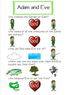 Water Cycle Worksheets For Kids Pdf  Adam  Eve Worksheetpdf  The Gospel Project  Pinterest  Dividing Fractions Worksheet 5th Grade with Math Order Of Operations Worksheet Pdf Adam And Eve Worksheet That Can Be Used By Ccd And Catechism Teachers For  Grade K Writing Supporting Details Worksheet