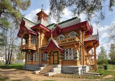 This house was built in the Russian eclectic style by Nikolay Bugrov, a merchant from Nizhny Novgorod, in the 1880s http://englishrussia.com/2015/04/21/the-house-of-a-russian-merchant/