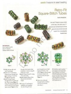 Bead Weaving Square Stitch tubes...Oh, I could have fun with these, and they are just a piece of weaving to add to other projects.