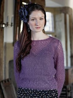 Rossini - лиловая паутинка спицами от Sarah Hatton.