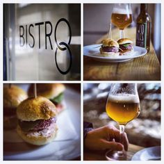 We started with beetroot sliders with baby spinach and Two Tales IPA. #Vegetarian #IPA www.twotales.cz www.facebook.com/twotalesbeer www.facebook.com/Bistro8