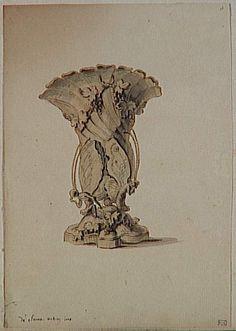 Charles Germain de Saint-Aubin | Vase-papillons