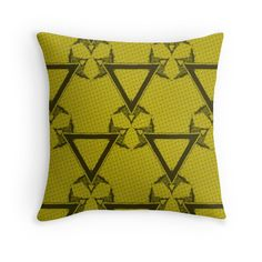 Triangle Halftone Yellow