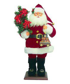 Look what I found on #zulily! Red Santa & Wagon Statue by Roman #zulilyfinds