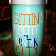 Cool idea for Spring Break trips! A sorority girl's version of a frat cooler! <3