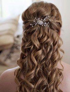 Half Up Half Down Wedding Hairstyles Ideas for Long Hair