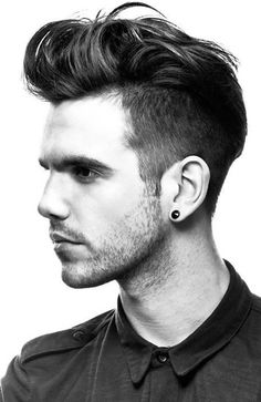Elvis was the King of the and and today is pompadour hairstyle is King again. Guys are rocking the pompadour combined with a wicked fade to Hairstyles Haircuts, Haircuts For Men, Cool Hairstyles, Medium Hairstyles, Modern Haircuts, Wedding Hairstyles, Hair And Beard Styles, Short Hair Styles, Bart Styles