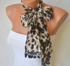 leopard fashion scarf   chiffon leopard fashion scarf by bstyle, $15.00