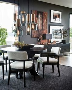 Home Decoration For Ganpati Round Dining Table, Elegant Interiors, Dining Table Decor, Interior Design, House Interior, Elegant Interior Design, Interior, Dining Table Black, Dining Room Decor