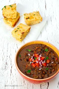 Brazilian Style Black Bean and Smoked Tofu Stew (Vegan Feijoada)