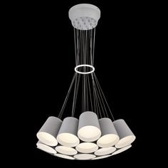 A 19-light led chandelier from the Borto collection