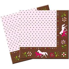 horse party, birthday party, kids party, horse gift, horse themed party supplies -Party Supplies: 20 Horse Friends Lunch Napkins: 1 Pack of 20 napkins