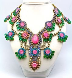 One of a Kind Statement Necklace- Ankara