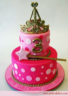 Little girl birthday cake. Maybe for Addison's 2nd birthday party? :)