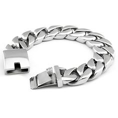 Hpolw Classic Puck Rock Big Heavy Bracelet for Men Stainless Steel Bracelets Hpolw http://www.amazon.com/dp/B00Z0120VQ/ref=cm_sw_r_pi_dp_22gPvb1011FG6