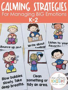 Primary Resources, Teaching Resources, Teaching Ideas, Self Regulation Strategies, Calm Down Kit, First Grade Teachers, Teaching Kindergarten, School Counselor, Young Children
