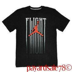 RARE MEN'S SIZE XL NIKE JORDAN FADING FLIGHT T-SHIRT BLACK WHITE & RED NWT