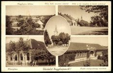 NagybajomNagybajomlátképe; Római katolikus templom oldalról; Főtér a református templom és hősök szobrával; Községháza; Önálló mezőgazdasági népiskola, 1940.