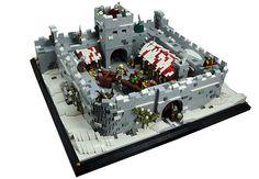 Hadrian's Wall Milecastle by Macsen Wledig Lego Modular, Lego Design, Game Design, Lego Roman, Lego Burg, Lego Sculptures, Lego Construction, Lego Bionicle, Lego News