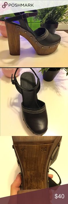 TopShop real leather high heel, made in Italy. Size 5.5 (36), real leather, made in Italy. Very good condition Topshop Shoes Platforms