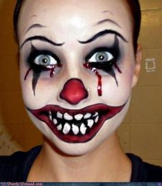 scary female clown makeup - Google Search