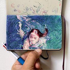 Biro Art, Ballpoint Pen Drawing, Art Basics, Artist Sketchbook, Pen Sketch, Creative Journal, Sketchbook Inspiration, Medium Art, Cool Art
