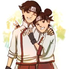 Tenten and Tenten by BayneezOne on DeviantArt | Awh look at that It's so cu--