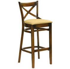 Noah Upholstered Stool | Furniture Options. Upholstered European beech timber bentwood barstool.